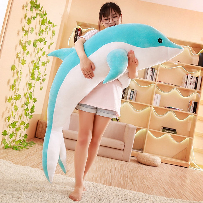Hot large plush dolphin toys stuffed sea animal cute girls dolls soft baby sleeping pillow christmas birthday gift for children - CrazyPassionateAbout.com