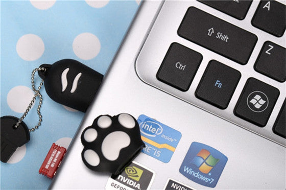 Cat Paw USB 2.0 Flash Drive - CrazyPassionateAbout.com