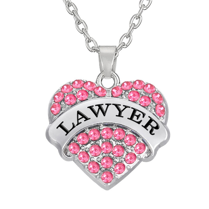 Heart Shaped Lawyer Necklace - CrazyPassionateAbout.com