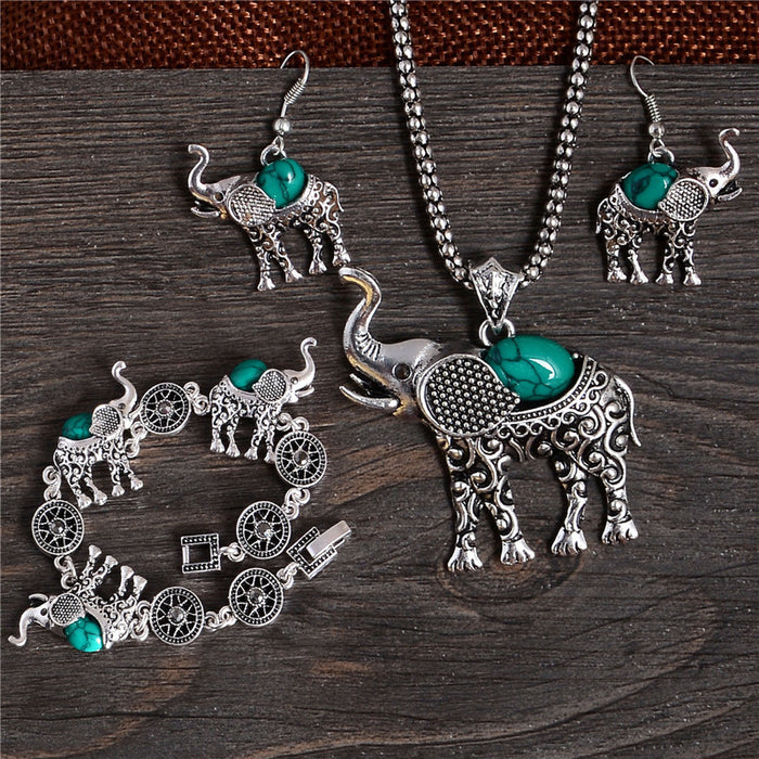 Classic Elephant Jewelry Set - CrazyPassionateAbout.com