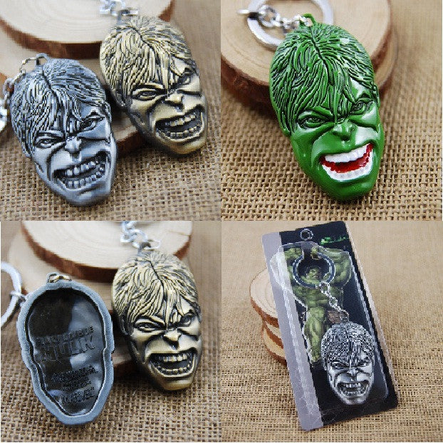Marvel Super Hero Hulk Metal Keychain Pendant - CrazyPassionateAbout.com