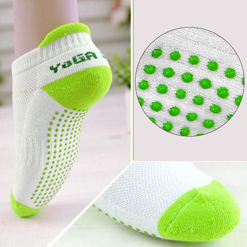 Women's Cotton Fitness Yoga Socks with Anti Slip Rubber Dots - CrazyPassionateAbout.com