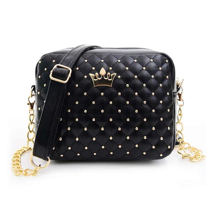 Mara's Dream Small Women Bag Fashion Handbag With Crown Mini Rivet Shoulder Bag Women Messenger Bag 2019 Hot Sale - CrazyPassionateAbout.com