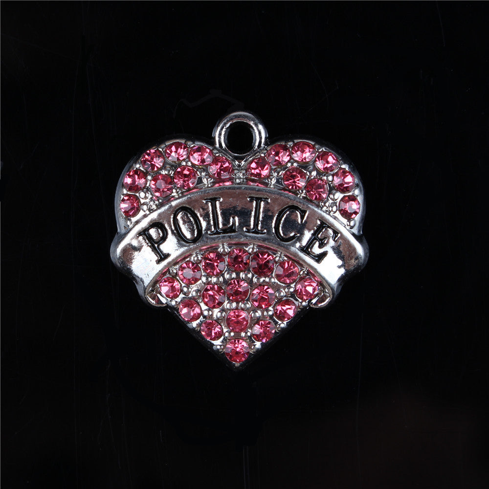 Police Heart Shaped (Pendant Only) - CrazyPassionateAbout.com