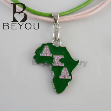 AKA Sorority Necklace - CrazyPassionateAbout.com
