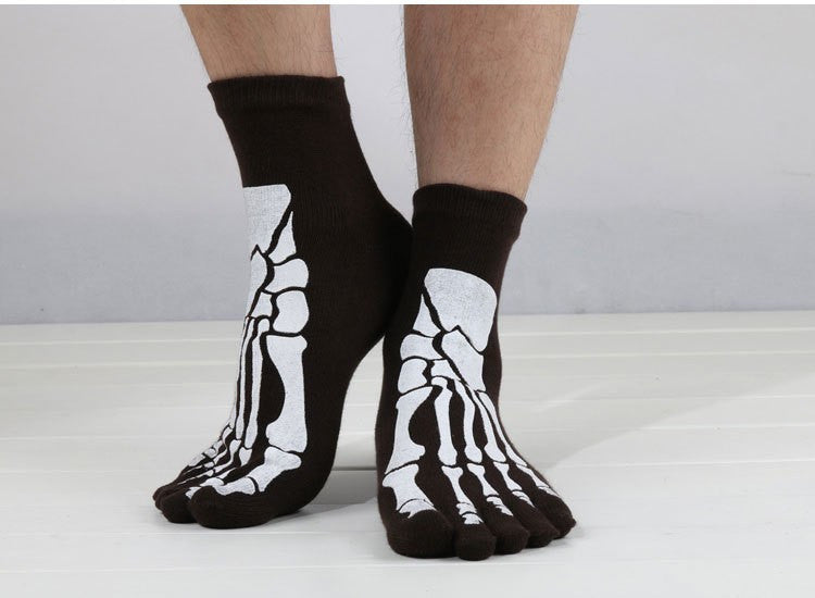Men's 3D Print Skeleton Toe Socks - CrazyPassionateAbout.com