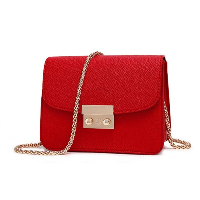 AECLVR Small PU Leather Mini Messenger Shoulder Handbag For Women - CrazyPassionateAbout.com