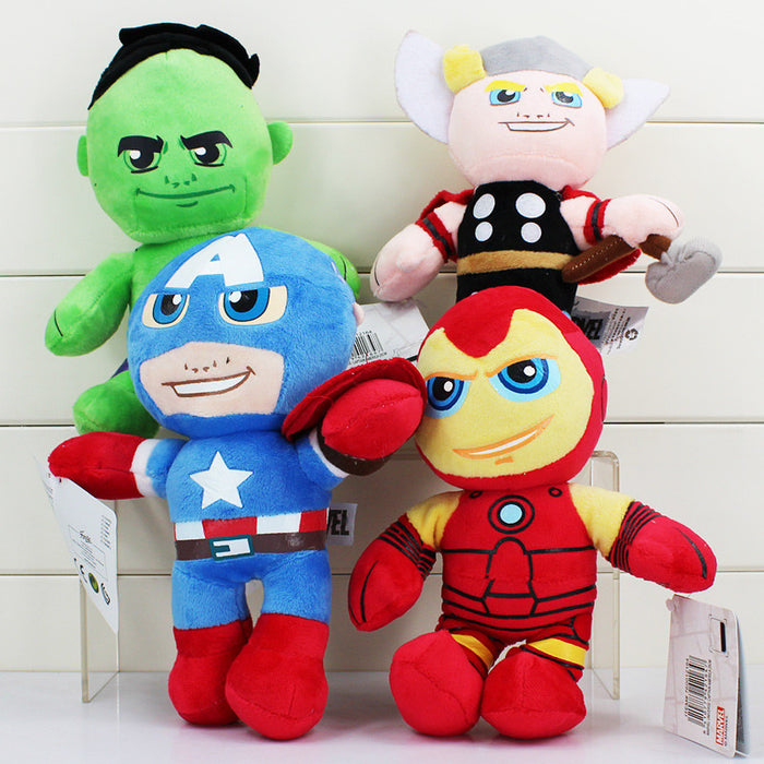 The Avengers Stuffed Plush Toys featuring Hulk Thor Captain America & Ironman - CrazyPassionateAbout.com
