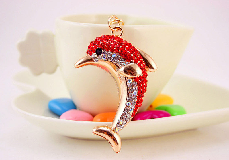 Dolphin Crystal Key Chain - CrazyPassionateAbout.com