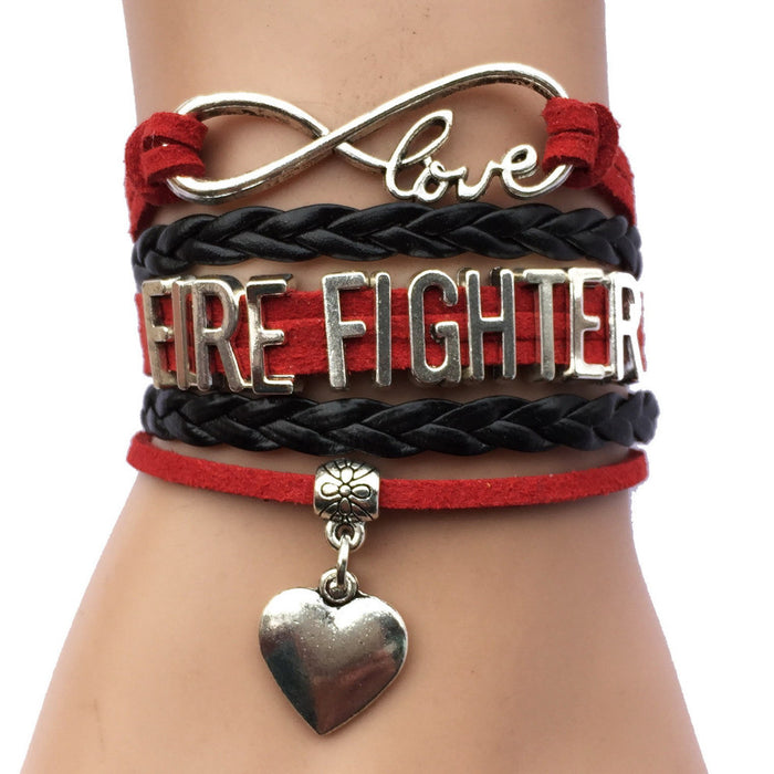 Infinity Love Fire Fighter Bracelet - CrazyPassionateAbout.com