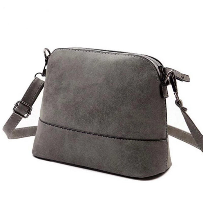 New fashion women's messenger bag scrub shell bag Nubuck Leather small crossbody bags over the shoulder women handbag - CrazyPassionateAbout.com