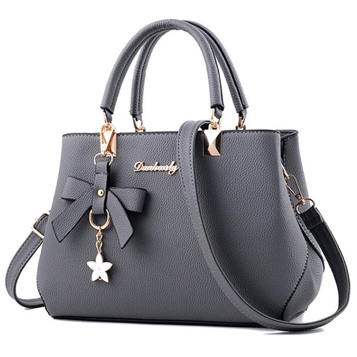 Yogodlns New 2019 Elegant Shoulder Bag Women Designer Luxury Handbags Women Bags Plum Bow Sweet Messenger Crossbody Bag - CrazyPassionateAbout.com