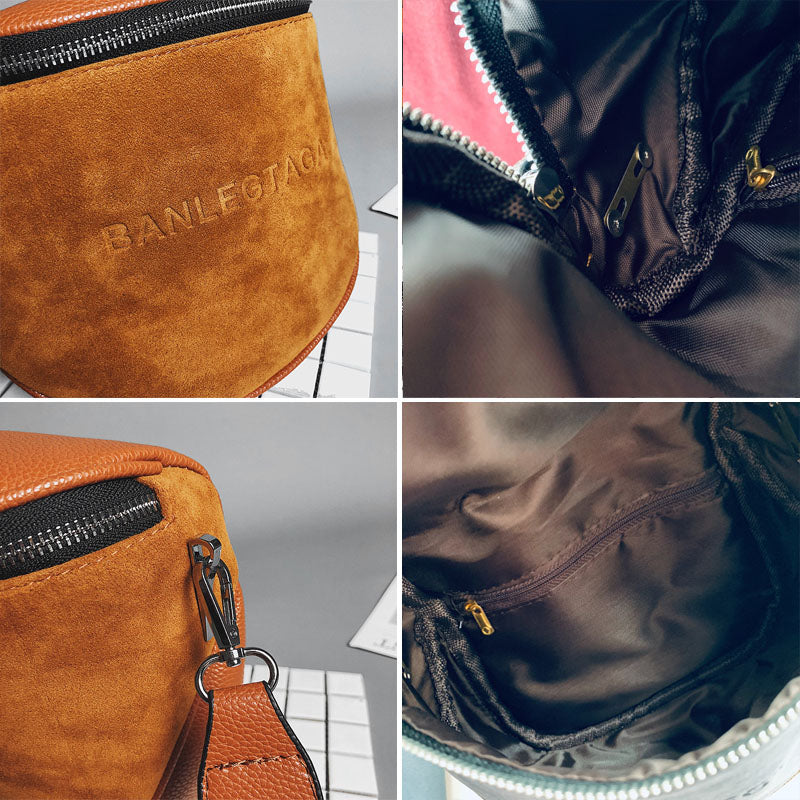 Fularuishi Crossbody Bag For Women Messemger Bags Pu Leather Shoulder Bag Fashion Famous Brand Lady Semicircle Saddle - CrazyPassionateAbout.com