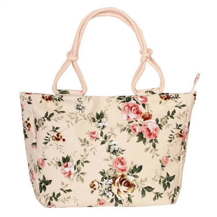 Big Size Casual Flower Printing Shoulder Handbag Canvas Graffiti Tote For Women - CrazyPassionateAbout.com