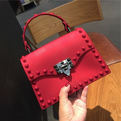 Luxury Designer Jelly Messenger Shoulder Bag With Leather For women - CrazyPassionateAbout.com