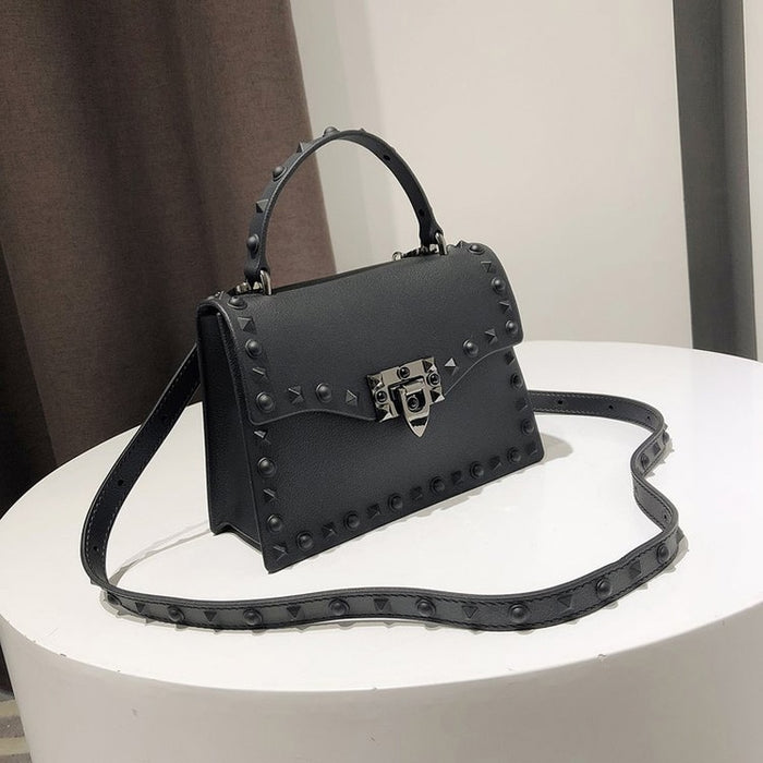 Jelly Bags For Women Solid Flap Fashion Messenger Bag Rivet Women Shoulder Bag Small Big Lady Handbags High Quality Bags Women's - CrazyPassionateAbout.com