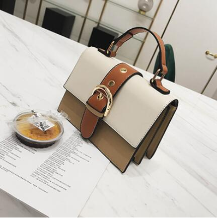 Women's Designer Handbag 2019 Fashion New High quality PU Leather Women bag Contrast Lady Tote Shoulder Messenger Bag Crossbody - CrazyPassionateAbout.com