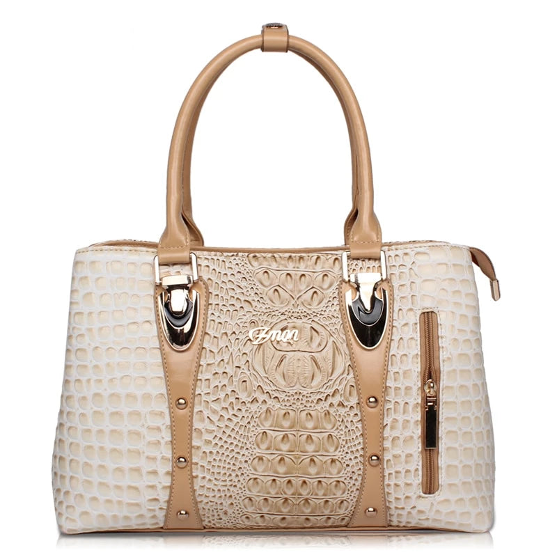 ZMQN Luxury Handbags Women Bags Designer Bags For Women 2019 Fashion Crocodile Leather Tote Bags Handbag Women Famous Brand A804 - CrazyPassionateAbout.com