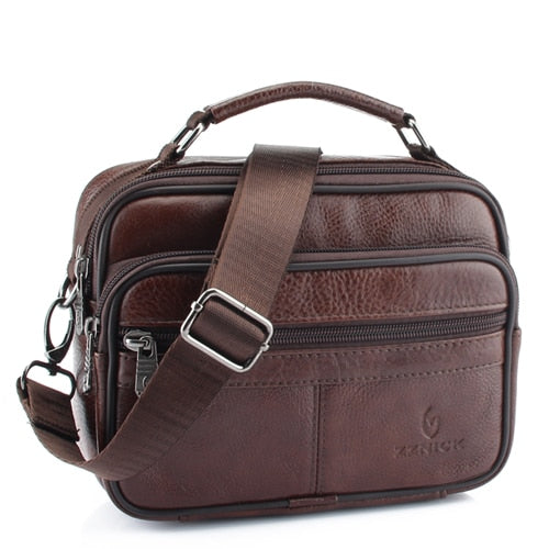 ZZNICK 2019 Genuine Cowhide Leather Shoulder Bag Small Messenger Bags Men Travel Crossbody Bag Handbags New Fashion Men Bag Flap - CrazyPassionateAbout.com