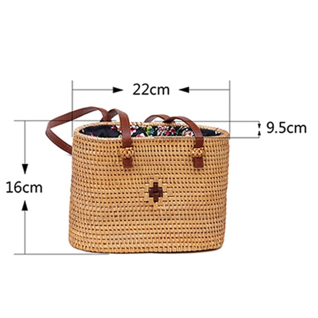 Summer Style Straw Crossbody Shoulder Bag With Hollow Criss-Cross Design - CrazyPassionateAbout.com