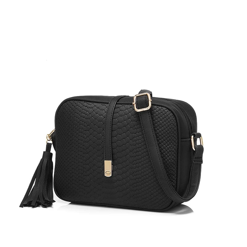 REALER brand small shoulder bag for women messenger bags ladies PU leather handbag purse tassels female crossbody bag women 2019 - CrazyPassionateAbout.com