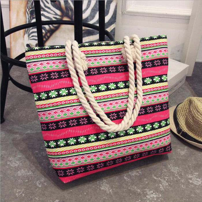 Fashion Folding Women Big Size Handbag Tote Ladies Casual Flower Printing Canvas Graffiti Shoulder Bag Beach Bolsa Feminina - CrazyPassionateAbout.com