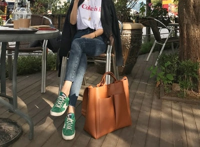 2019 new Pu Leather Bag Simple Handbags Famous Brands Women Shoulder Bag Casual Big Tote Vintage Ladies Crossbody Bags - CrazyPassionateAbout.com