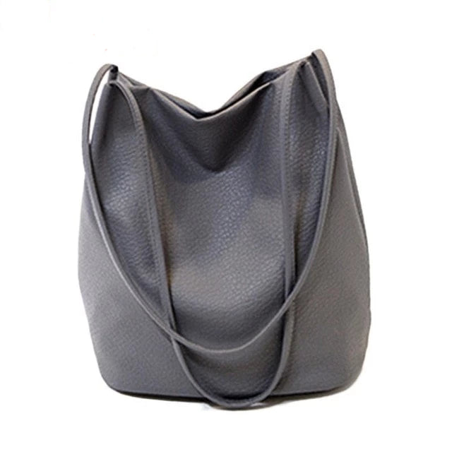 Yogodlns Women Leather Handbags Black Bucket Shoulder Bags Ladies Crossbody Bags Large Capacity Ladies Shopping Bag Bolsa - CrazyPassionateAbout.com