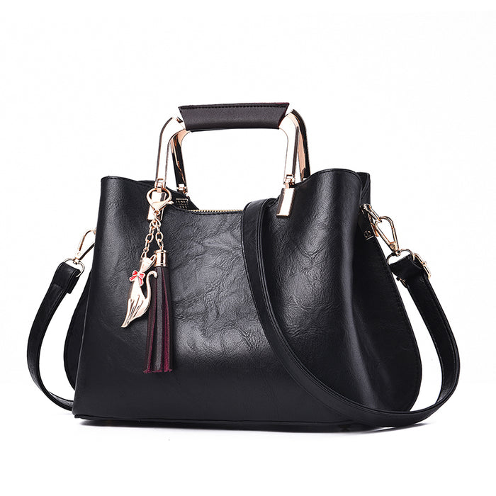 Women Handbags Luxury Designer 2019 Ladies Pu Leather Handbag Messenger New Shoulder Bags Korean Style Tassel Totes bags Female - CrazyPassionateAbout.com