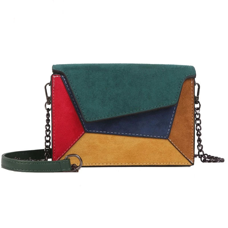 2019 Fashion Quality Leather Patchwork Women Messenger Bag Female Chain Strap Shoulder Bag Small Criss-Cross Ladies' Flap Bag - CrazyPassionateAbout.com