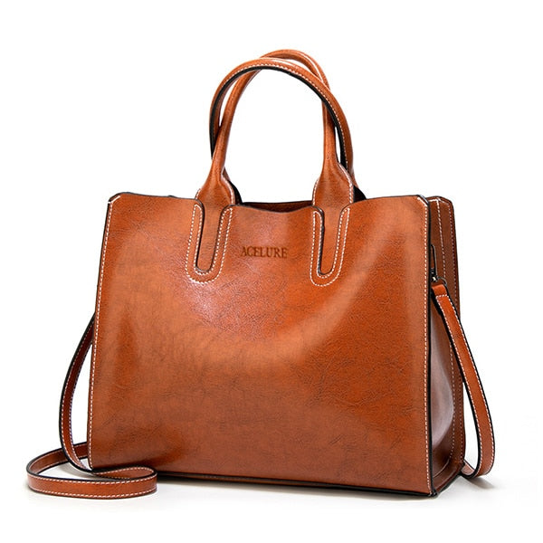 Large Leather Casual Spanish Brand Shoulder Tote Handbag For Women - CrazyPassionateAbout.com