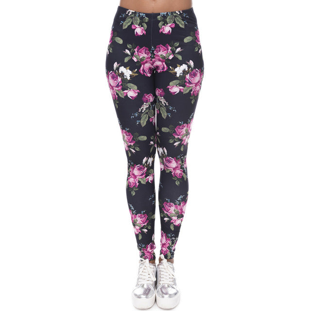 Roses Printed Leggings - CrazyPassionateAbout.com