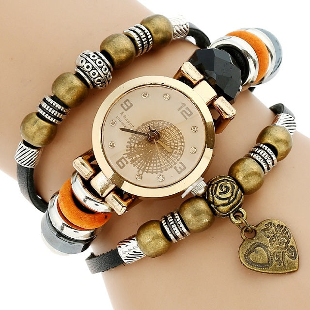 Triple Butterfly Charm Watch - CrazyPassionateAbout.com