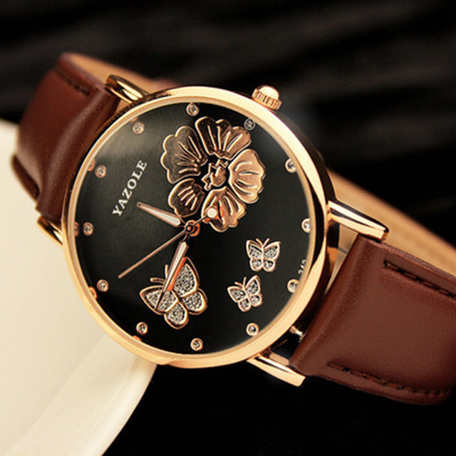 Butterfly Flower Watch - CrazyPassionateAbout.com