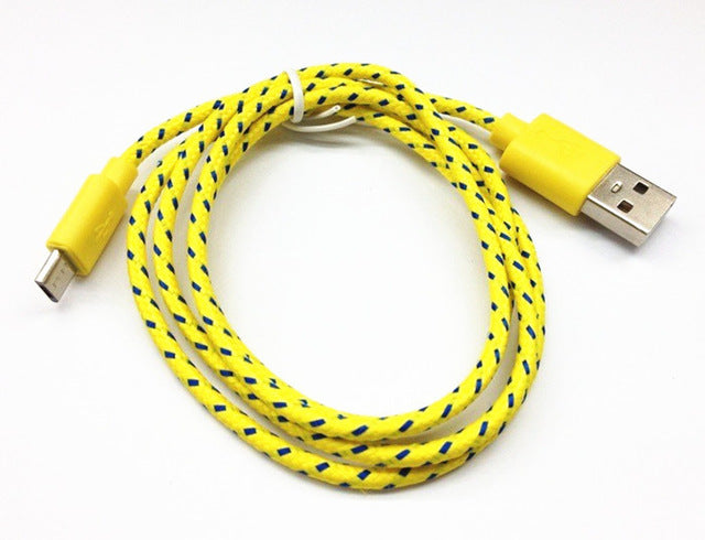 Nylon Braided Charging Cable - CrazyPassionateAbout.com