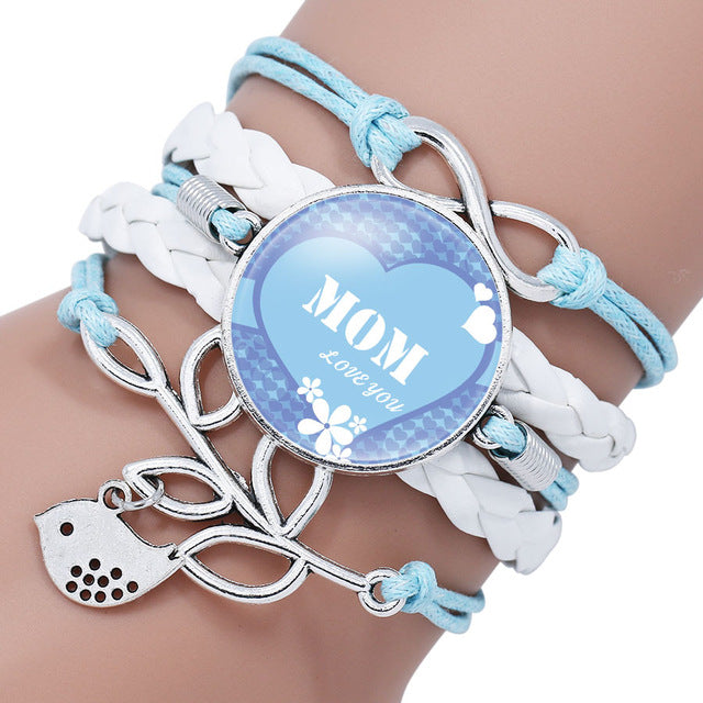 Infinity Mom Charm Bracelet - CrazyPassionateAbout.com