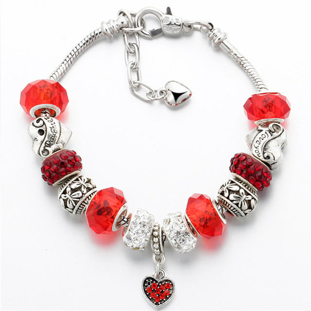 Crystal Heart Beads Bracelet - CrazyPassionateAbout.com