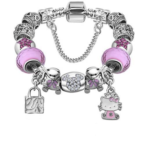 Beaded Crystal Charms Bracelet - CrazyPassionateAbout.com