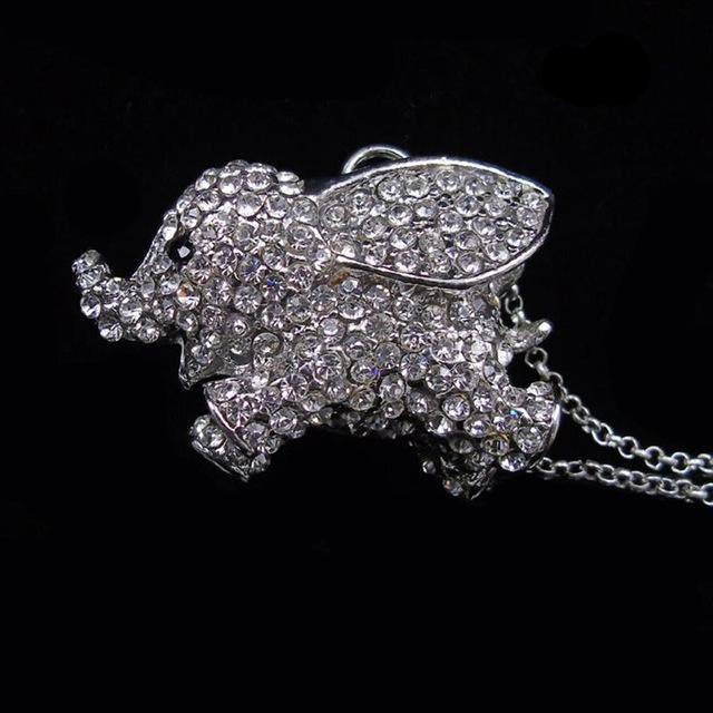 Cute Elephant Pendant Necklace - CrazyPassionateAbout.com