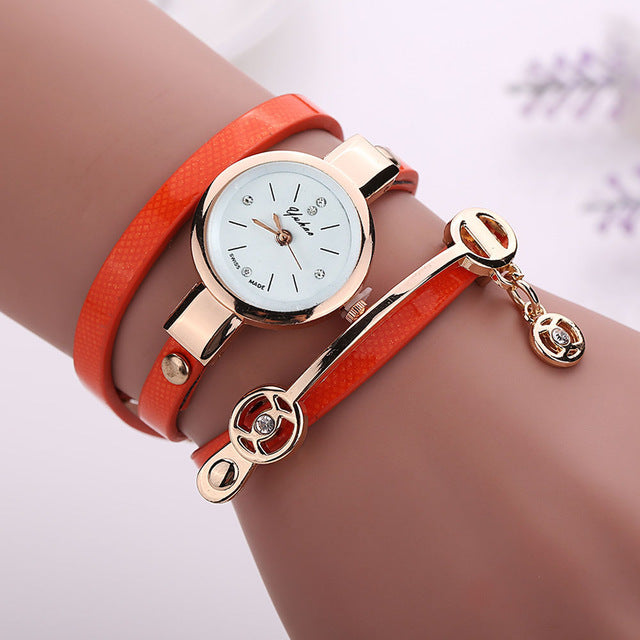 PU Leather Bracelet Watch - CrazyPassionateAbout.com