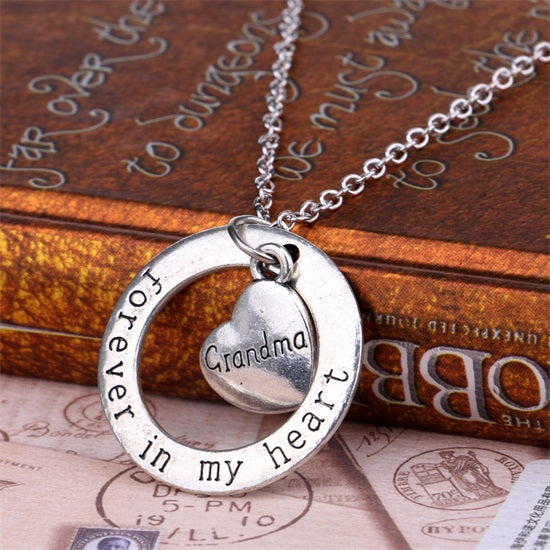 """Forever In My Heart"" Family Necklace - CrazyPassionateAbout.com"