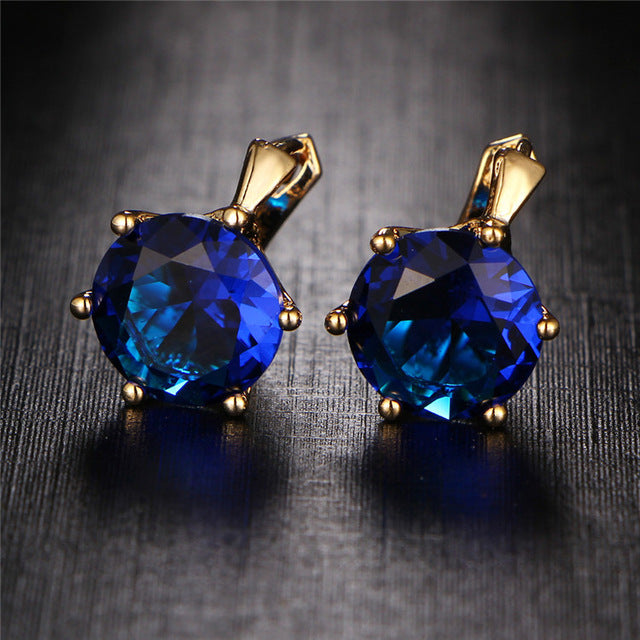 Statement Crystal Stud Earrings - CrazyPassionateAbout.com