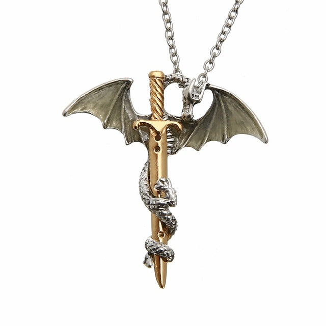 Vintage Glow in the Dark Dragon Necklace - CrazyPassionateAbout.com