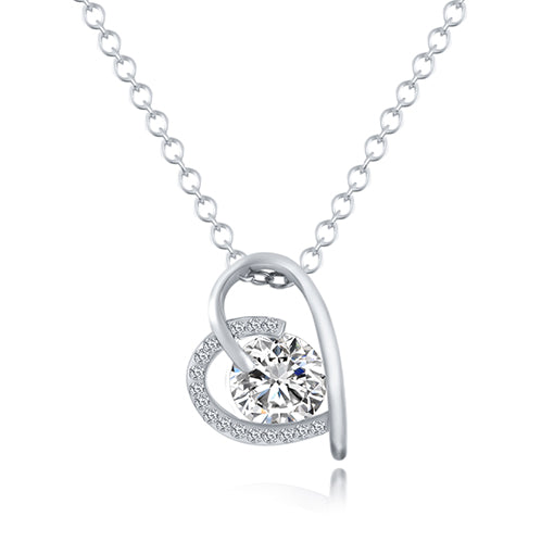 Heart Crystal Necklace - CrazyPassionateAbout.com