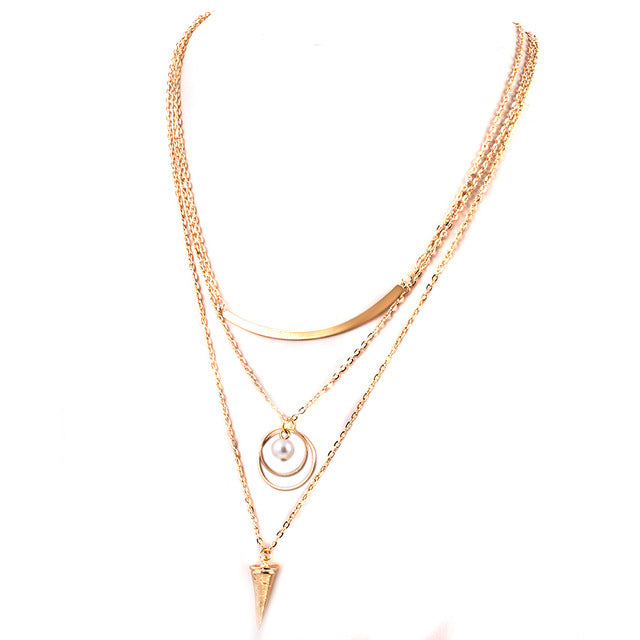 Multi-layer Chain Gold Necklace - CrazyPassionateAbout.com