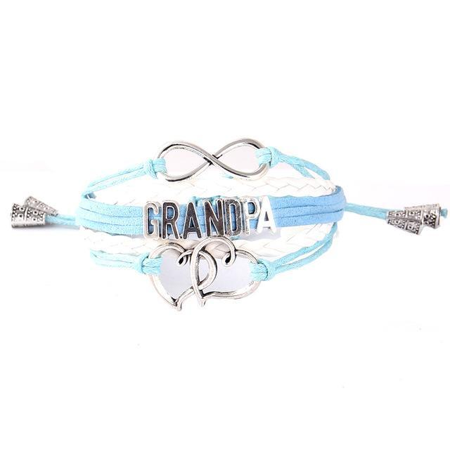 Infinity Heart Grandpa Bracelet - CrazyPassionateAbout.com