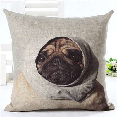 Pug Wearing Hat Throw Pillow Case - CrazyPassionateAbout.com