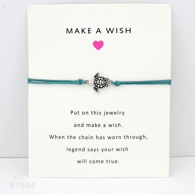 """Make A Wish"" Turtle Necklace - CrazyPassionateAbout.com"