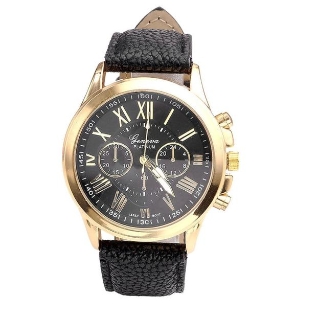 Leather Strap Casual Black Watch - CrazyPassionateAbout.com