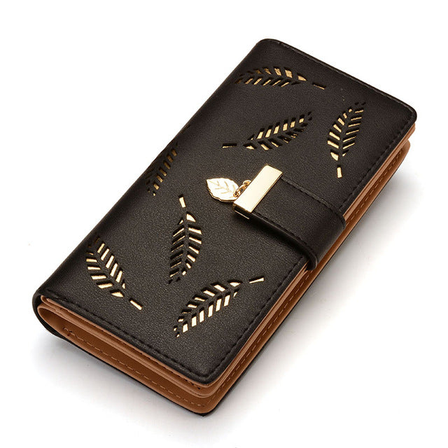 Black Clutch with Leaves - CrazyPassionateAbout.com